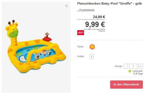 Intex Smiley Giraffe Baby Planschbecken - jetzt 35% billiger