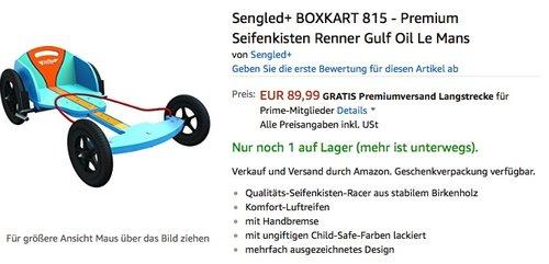 BOXKART - Premium Seifenkisten - jetzt 43% billiger