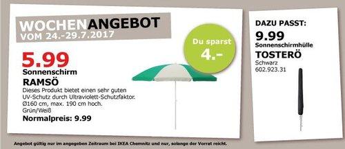 IKEA RAMSÖ Sonnenschirm, 160cm,  grün,  verstellbar - jetzt 40% billiger