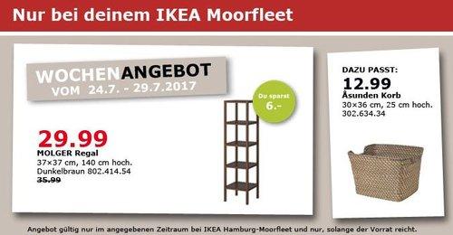 IKEA MOLGER Regal, 37x37 cm, 140 cm, dunkelbraun - jetzt 17% billiger