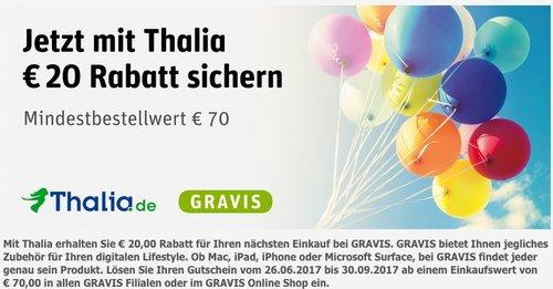 20 EUR Rabbat bai GRAVIS ab 70 EUR Mindestbestellwert - jetzt 29% billiger