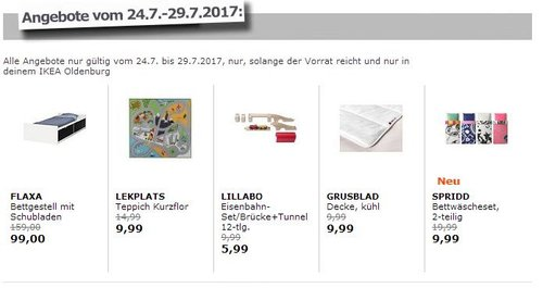 IKEA FLAXA Bettgestell mit Schubladen, für Matratze 200x90 cm  - jetzt 38% billiger