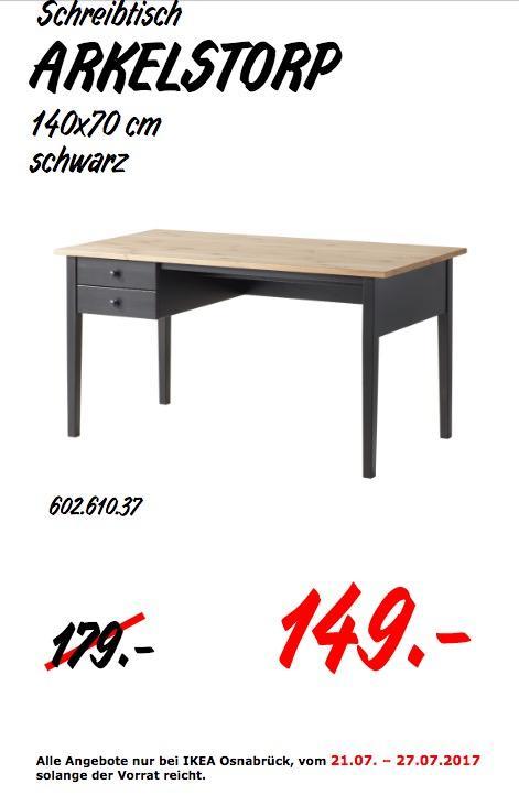 Ikea 00€17 149 Schreibtisch140x70 Arkelstorp Für CmS 0Owk8nP