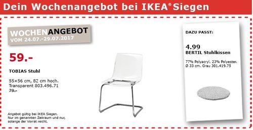 IKEA TOBIAS Stuhl, transparent, verchromt - jetzt 25% billiger