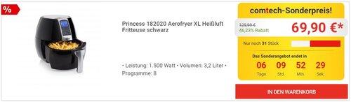 Princess 182020 Aerofryer XL Heißluft Fritteuse - jetzt 16% billiger