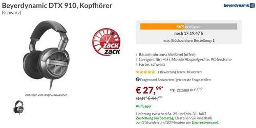 beyerdynamic DTX 910 HiFi-Stereo Kopfhörer - jetzt 24% billiger
