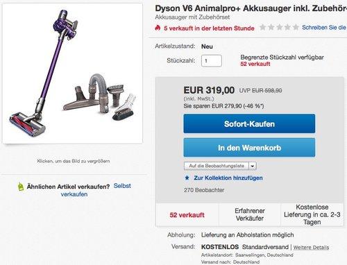 DYSON V6 Animalpro+ Akkusauger plus praktisches Staubsauger-Zubehör - jetzt 14% billiger