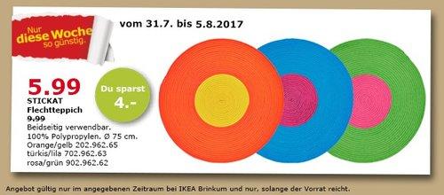 IKEA STICKAT Flickteppich, 75 cm, 100% Polypropylen - jetzt 40% billiger