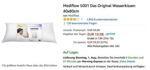 Mediflow 5001 Das Original Wasserkissen 40x80cm - jetzt 43% billiger