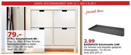 IKEA STÄLL Schuhschrank 4 Fächer, 96x17 cm, 90 cm hoch, weiß - jetzt 11% billiger