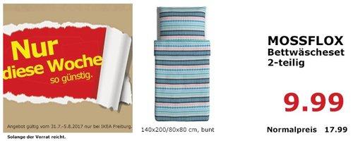 IKEA MOSSFLOX Bettwäscheset,  2-teilig, 140x200/80x80 cm, bunt - jetzt 44% billiger