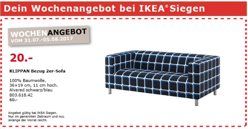 IKEA KLIPPAN Bezug 2er-Sofa, Alvared schwa... für 20,00 ...