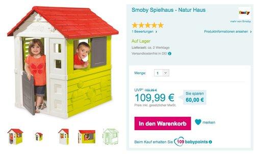 Smoby Spielhaus - Natur Haus - jetzt 8% billiger