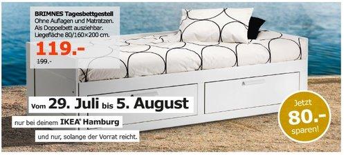 IKEA BRIMNES Tagesbettgestell, Liegefläche 80/160x200 cm - jetzt 40% billiger