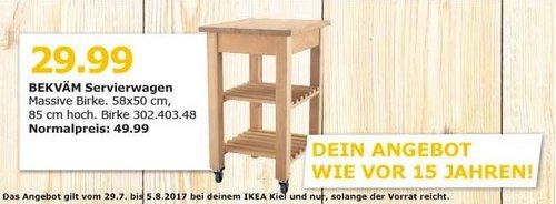 IKEA BEKVÄM Servierwagen, massive Birke, 58x50 cm, 85 cm hoch - jetzt 40% billiger