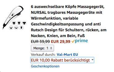 NURSAL tragbares Massagegerät mit Wärmefunktion - jetzt 25% billiger