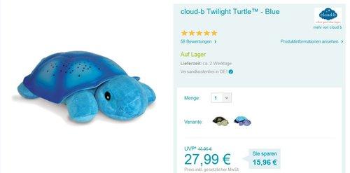 Cloud b 7323-BL Twilight Turtle, blau - jetzt 7% billiger