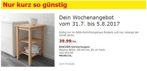 IKEA BEKVÄM Servierwagen Massive Birke. 58×50 cm, 85 cm hoch. - jetzt 20% billiger