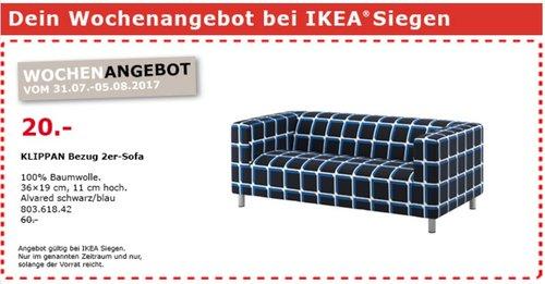 IKEA KLIPPAN Bezug 2er-Sofa, Alvared schwarzblau - jetzt 67% billiger