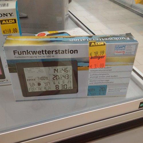 Funkwetterstation - jetzt 25% billiger