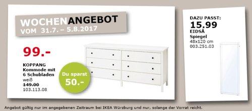 IKEA  KOPPANG Kommode mit 6 Schubladen - jetzt 34% billiger