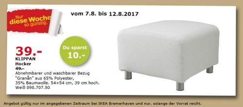 IKEA KLIPPAN Hocher, 54x54 cm, 39 cm hoch, weiß - jetzt 20% billiger