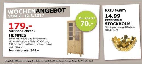 IKEA HEMNES Schrank mit Paneel-/Vitrinentür, hellbraun - jetzt 28% billiger