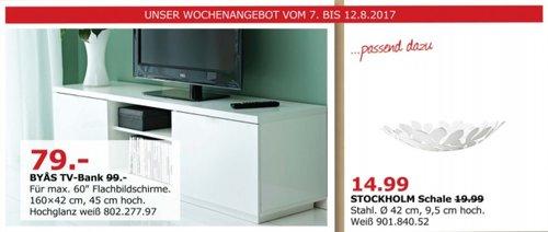 IKEA BYAS TV-Bank, 160x42 cm, 45 cm hoch - jetzt 20% billiger
