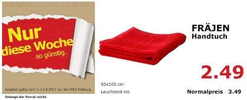 IKEA FRÄJEN Handtuch, 50x100 cm, rot  - jetzt 29% billiger