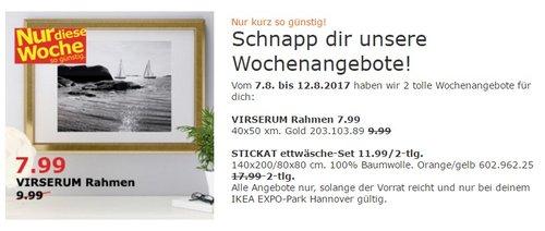 IKEA VIRSERUM Rahmen, 40x50 cm, gold - jetzt 20% billiger