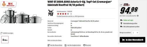 WMF Topf-Set 4-teilig Astoria - jetzt 11% billiger