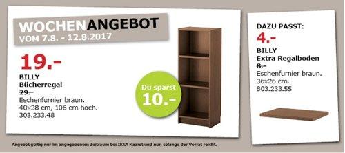 IKEA BILLY Bücherregal, 40x28 cm, 106 cm hoch, braun - jetzt 34% billiger