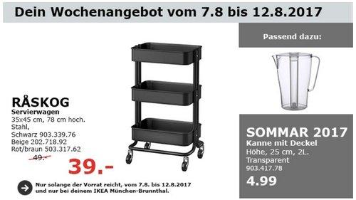 IKEA RASKOG Servierwagen, 35x45 cm, 78 cm hoch - jetzt 20% billiger