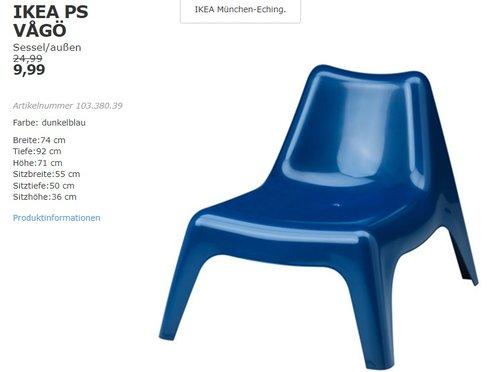 IKEA PS VAGÖ Sessel/außen  - jetzt 60% billiger