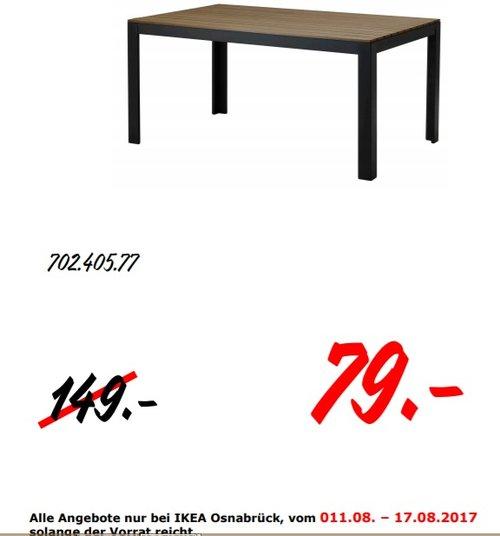 IKEA FALSTER Tisch/außen, 160x100 cm, 75 cm hoch, schwarz/braun - jetzt 47% billiger