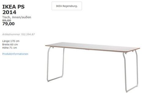 IKEA PS 2014 Tisch, innen/außen - jetzt 20% billiger