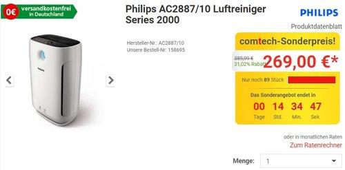 Philips AC2887/10 Luftreiniger Series 2000 - jetzt 16% billiger