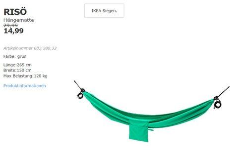 IKEA RISÖ Hängematte, grün - jetzt 50% billiger