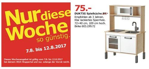 IKEA DUKTIG Spielküche, 72x40cm, 109 cm hoch, birke - jetzt 16% billiger