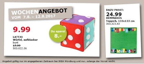 IKEA LATTJO Würfel, aufblasbar, 35x35x35 cm - jetzt 44% billiger