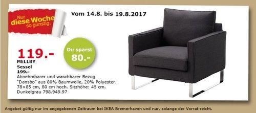 IKEA MELBY Sessel, dunkelgrau - jetzt 40% billiger