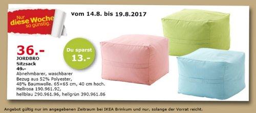 IKEA JORDBRO Sitzsack, 65x65 cm, 40 cm hoch - jetzt 27% billiger