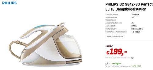 Philips GC9642/60 PerfectCare Elite Silence Dampfbügelstation - jetzt 36% billiger
