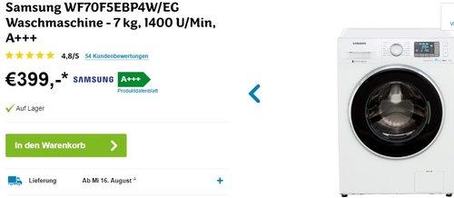 Samsung WF70F5EB Waschmaschine - jetzt 18% billiger