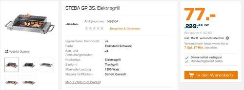 STEBA GP 3S, Elektrogrill - jetzt 18% billiger