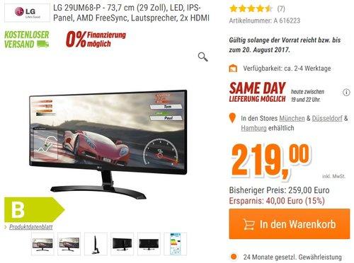 LG IT Products 29UM68-P 29 Zoll Monitor - jetzt 12% billiger