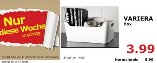 IKEA VARIERA Box, 34x24 cm, weiß - jetzt 33% billiger