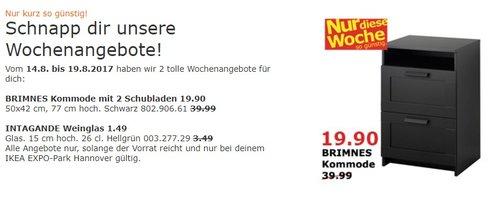 IKEA BRIMNES Kommode mit 2 Schubladen, 50x42 cm, 77 cm hoch, schwarz - jetzt 50% billiger