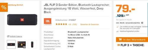 JBL FLIP 3 Sonder Edition, Bluetooth Lautsprecher - jetzt 17% billiger