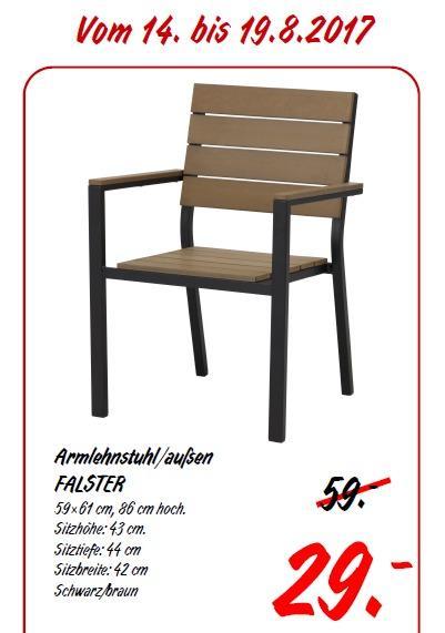 IKEA FALSTER Armlehnstuhl/außen, 59×61 cm, 86 cm hoch. - jetzt 51% billiger